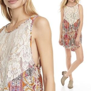 FREE PEOPLE Count Me In Mini Dress Trapeze Top